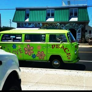 You never know where our psychedelic #greenmachine will show