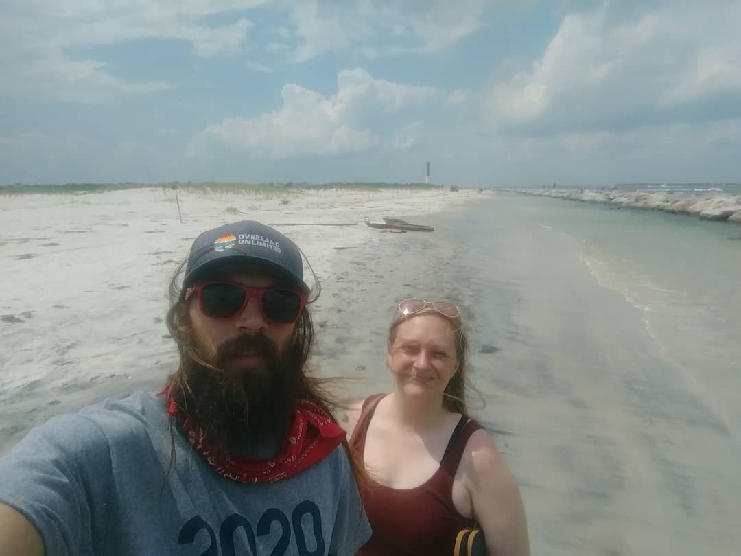 Almost at the beach, crossed over the tidal pool from the jetty to the sand for …