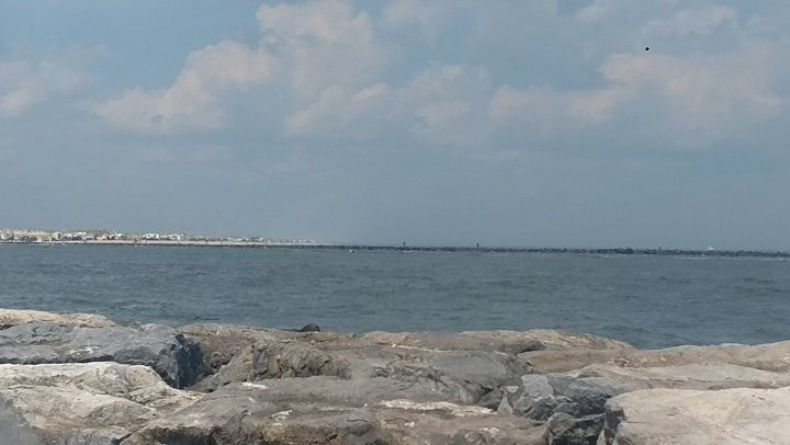 Finally made it to the ocean. Looking across the inlet is island beach state par…