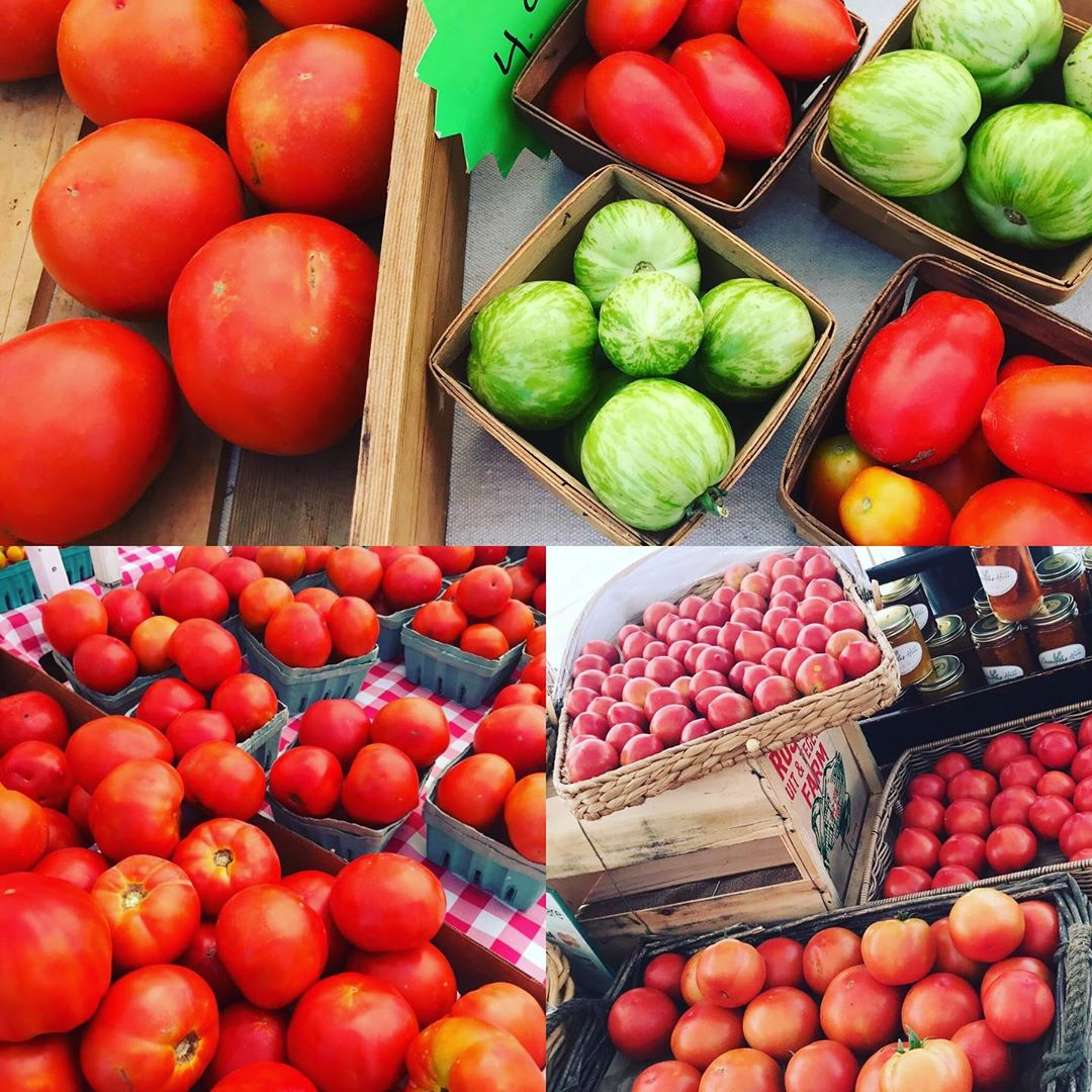 HAVE WE GOT THE JERSEY TOMATO GAME DOWN OR WHAT??? Here at Surf City Farmers Mar…