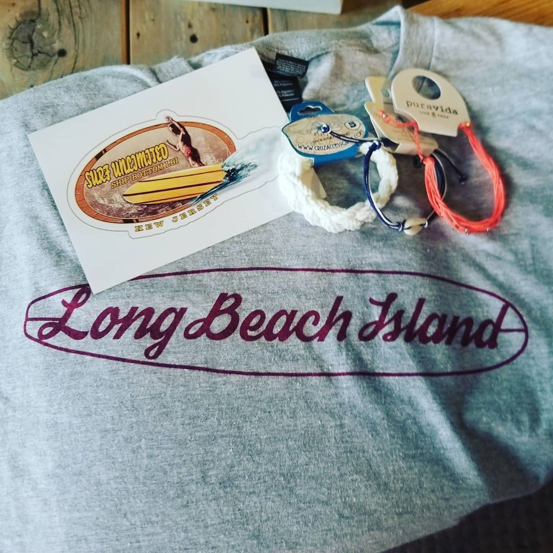Long Beach Island tees! Open daily 9-6  #surfunlimitedlbi #shipbottom #lbibeachl…