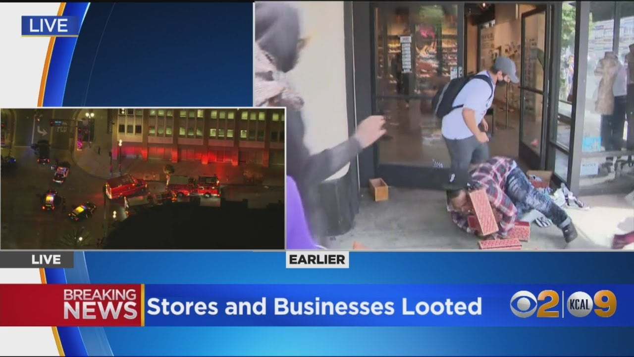 Looters Trip, Fall While Rushing Out Of Long Beach Store