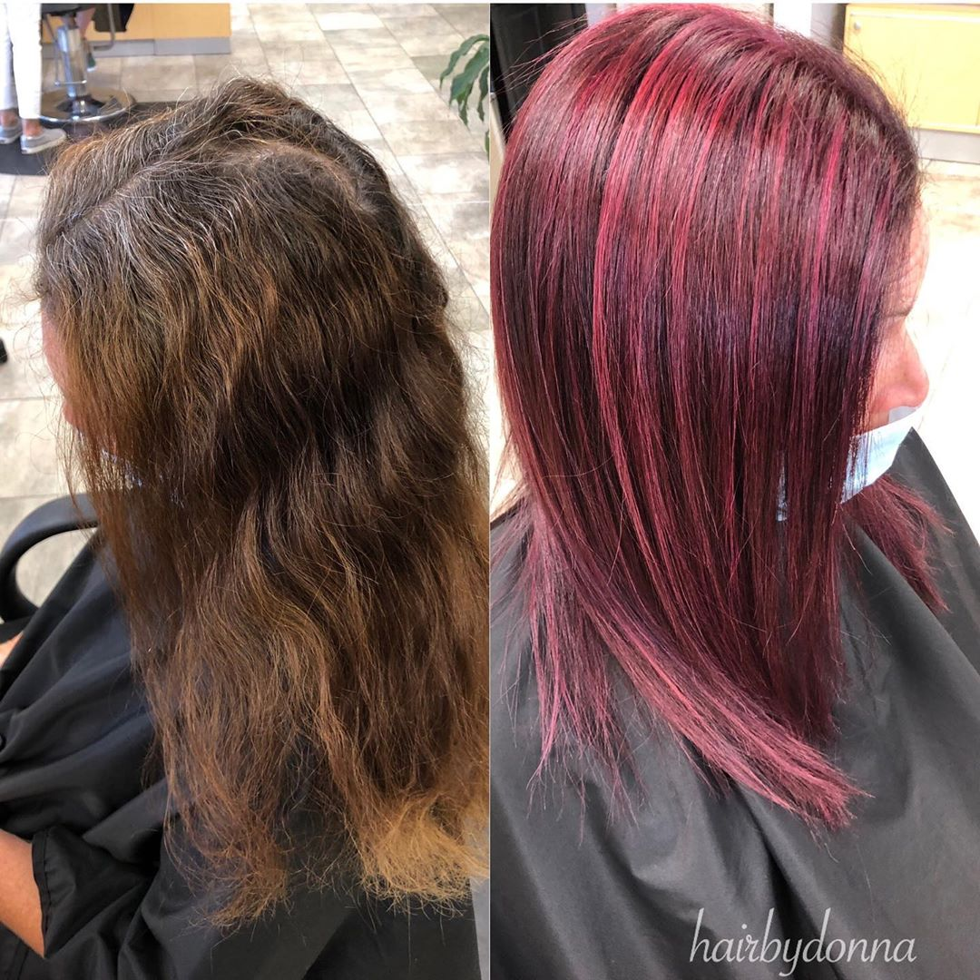 Poison Berry  before and after  • • • #beforeandhairhair #afterquarantinehair #p…