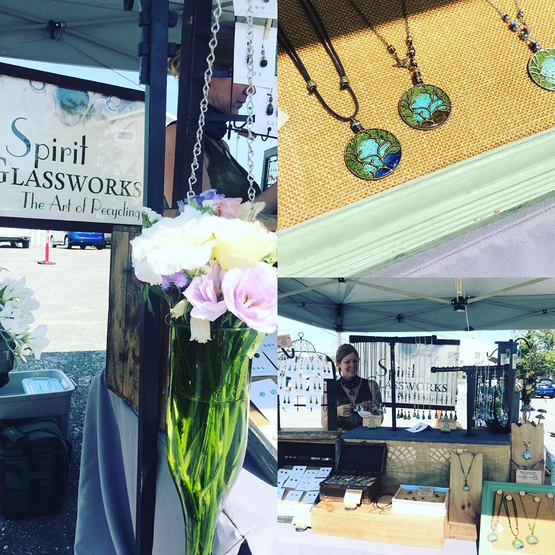SPIRIT GLASSWORKS… beautiful handcrafted design made with recycled wine and sp…