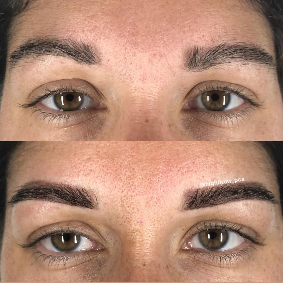 Soft 1st session #powderbrows for this  babe.. – – – #permanentmakeup #powderbro…