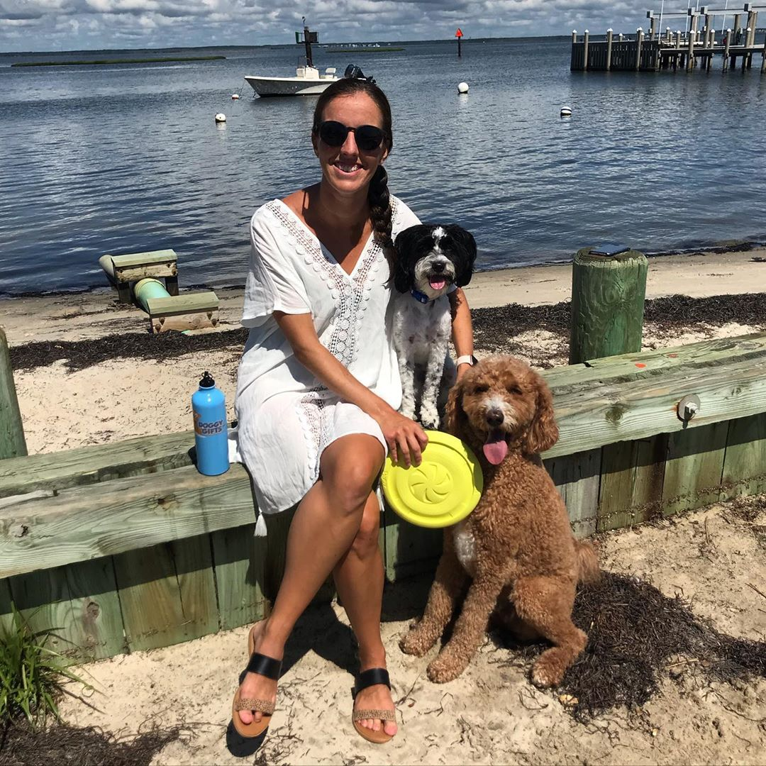 Sunday Funday with my @coastalpetproducts Pro Fit Flying Disc from @doggygifts !…