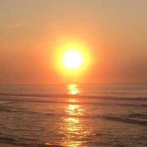 Sunrise from the ocean, sunset into the bay and endless day between – high summe…