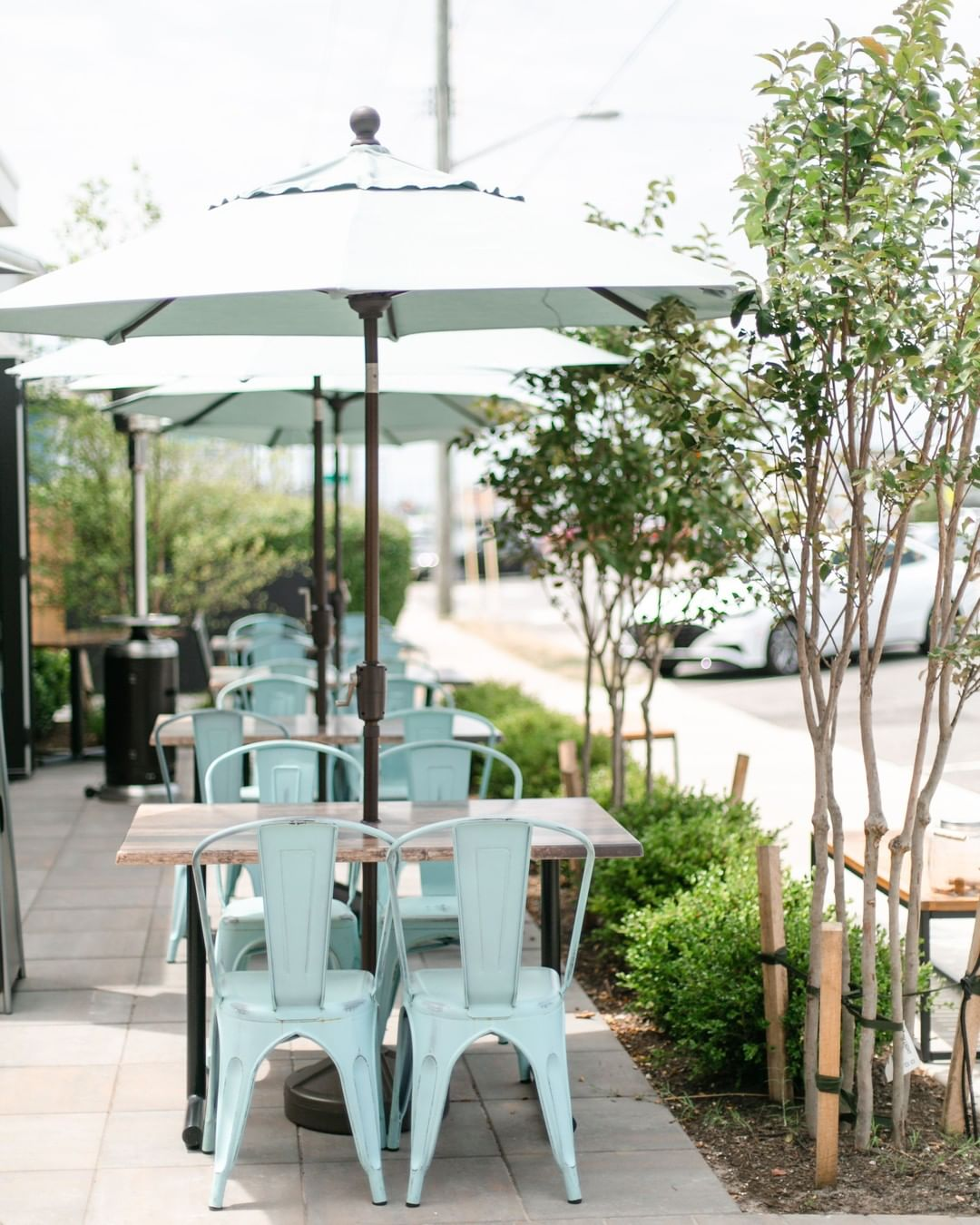 We are really loving our new patio and backyard as relaxing dining spaces for ou…