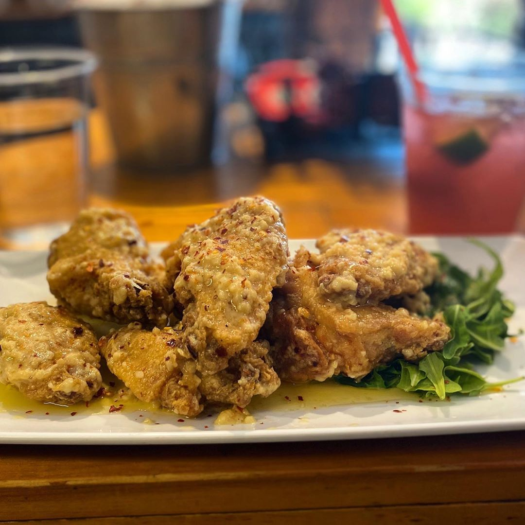 What are you having for dinner ?? We have garlic and parm wings… open till 8 !…