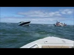 Read more about the article Boat sinking Barnegat inlet #LBI