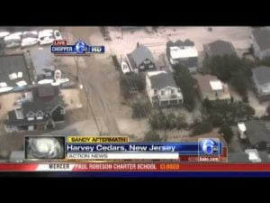 Chopper 6 HD over damage in Harvey Cedars, NJ   Video   6abc com #LBI