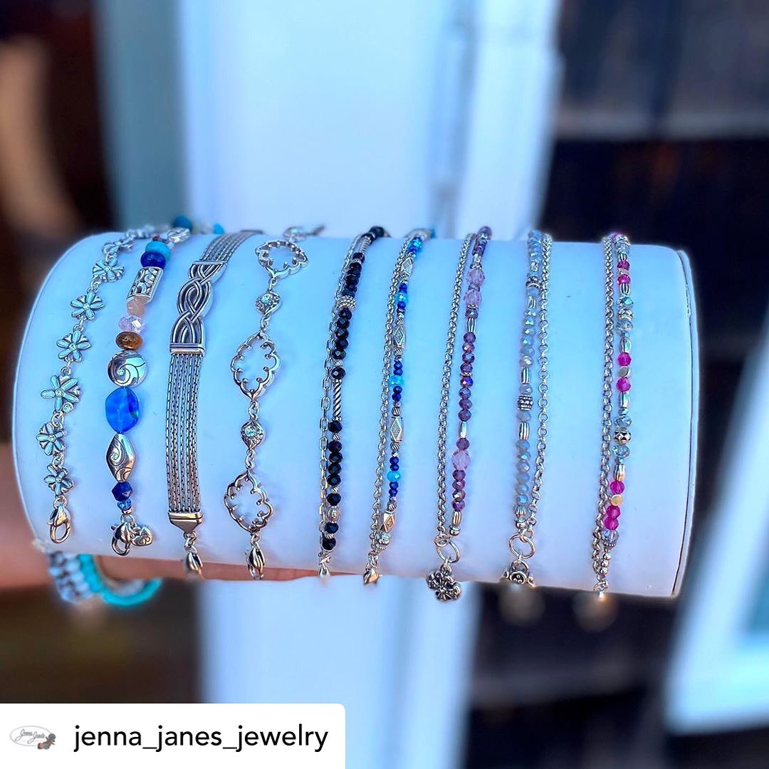 LBI @jenna_janes_jewelry   New Brighton bracelets! Come see our newest shipment from…