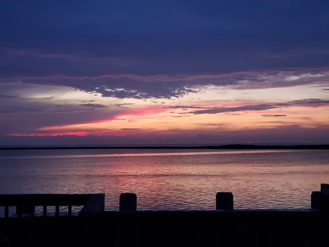 LBI A beautiful sunset despite an overcast sky         …