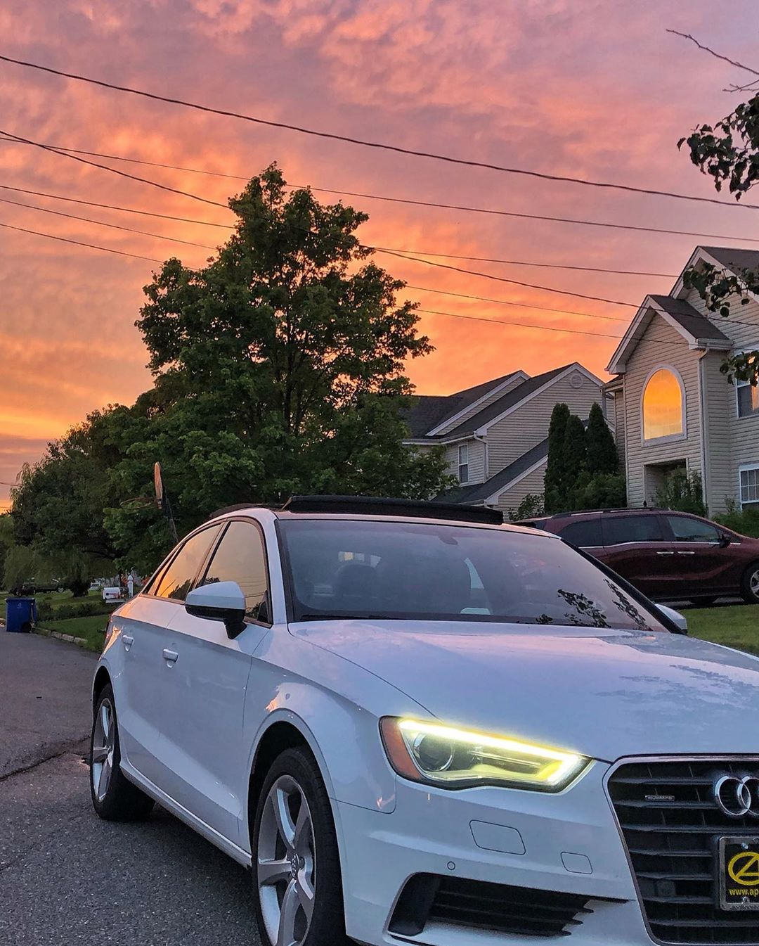 LBI Audi A3 detail ended with a nice sunset! . . . .         …