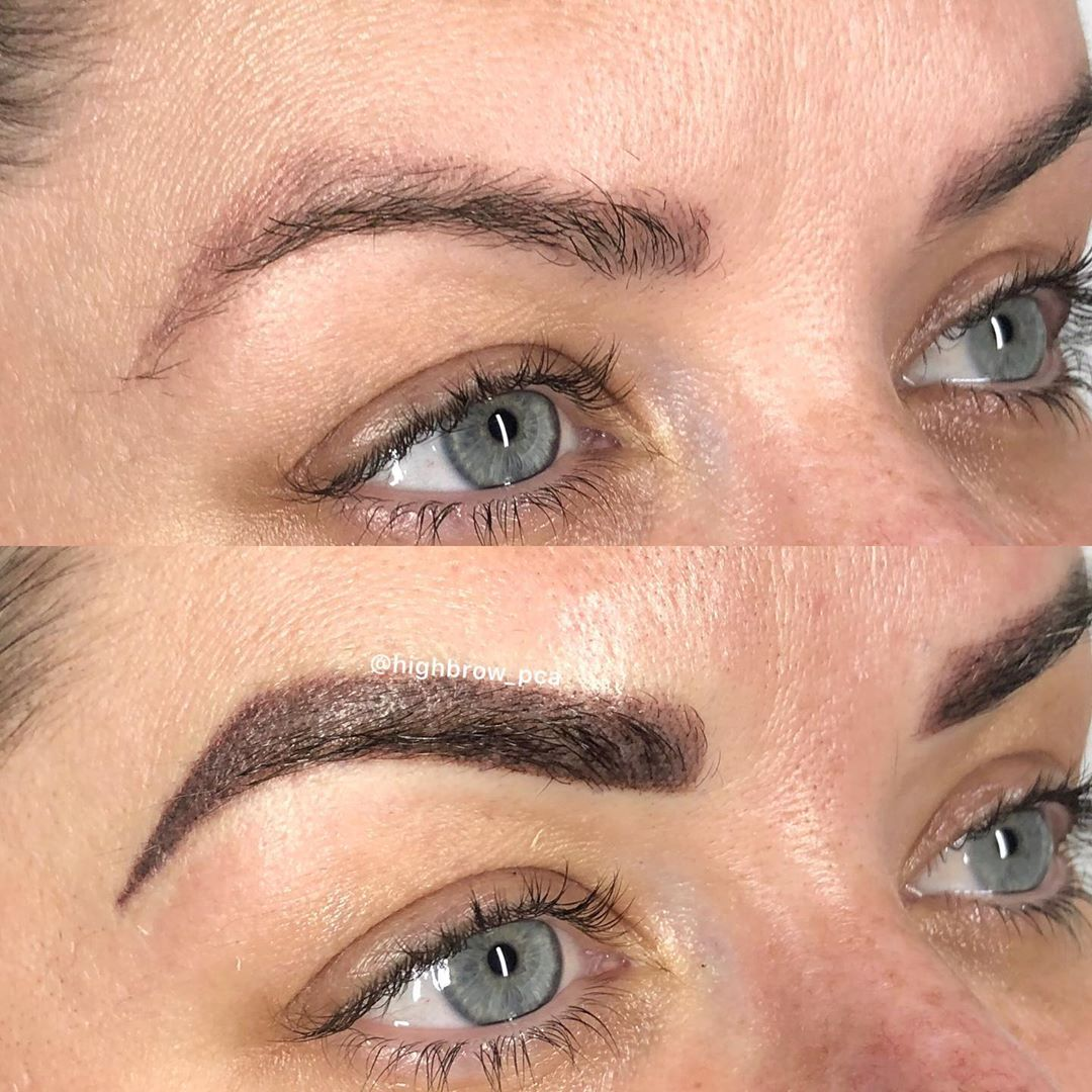 LBI BOLD & beautiful arched  over 2 year faded microblading for this blue-eyed beaut…