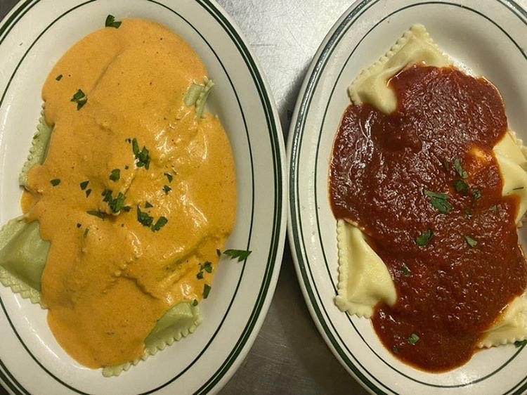 LBI Come get saucy with us this weekend with these 2 ravioli dishes. Pictured we hav…