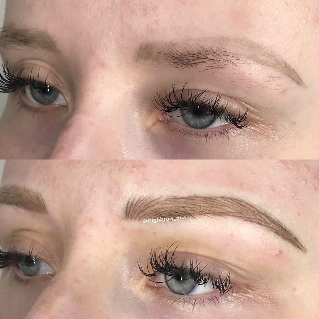 LBI Cute, tiny shape correction over old microblading… not every set of eyes needs…