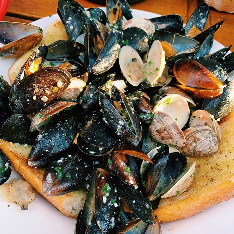 LBI Dipping Bread in our White Wine & Garlic Butter Sauce may be the Best Part   . :…