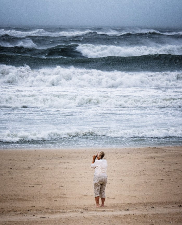 LBI During a brief break in Tropical Storm  we headed to the beach, pelted by tiny s…