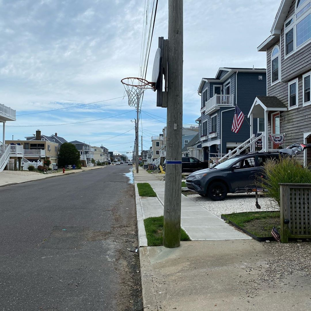 LBI I first noticed the painted blue band, wrapped around a weathered utility pole a…