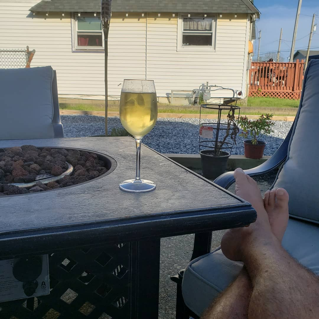 LBI It's a beautiful night on Long Beach Island.  Time for a glass of wine on the pa…