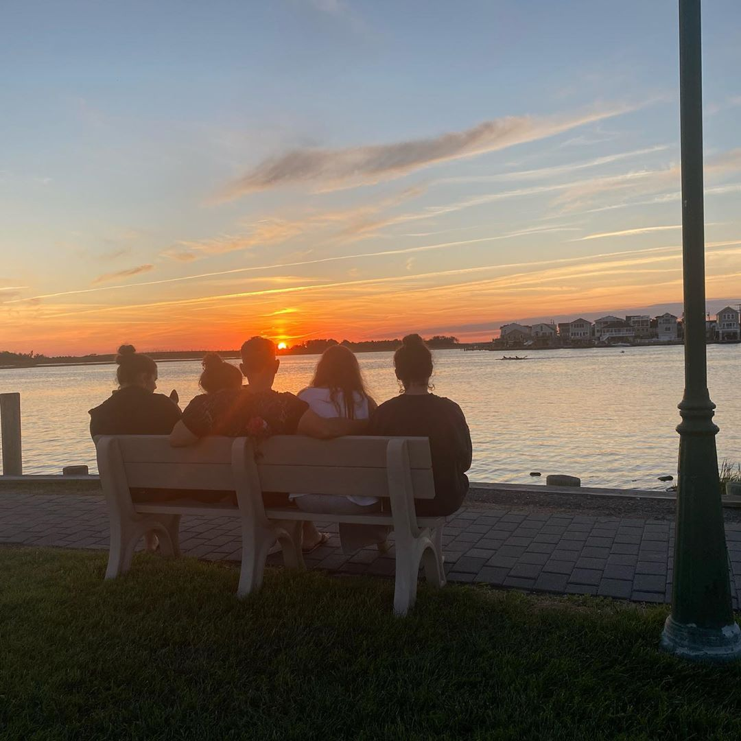 LBI LBI sunsets are a family affair .                           …