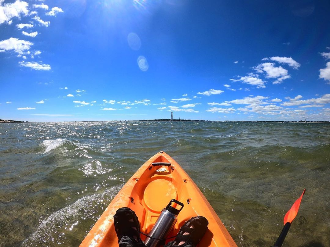 LBI Little breezy, but a good day to be on the water.   …