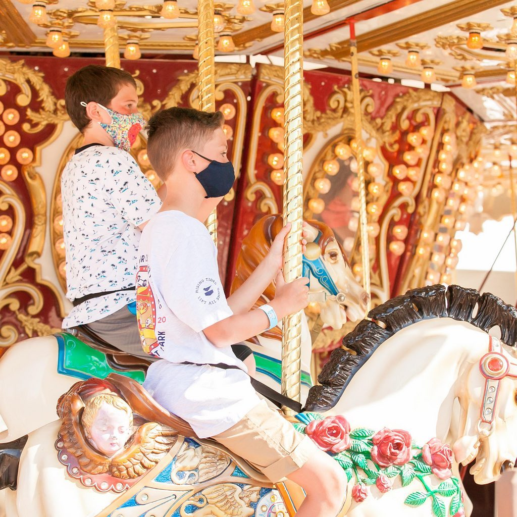 LBI No summer is complete without a ride (or two) on our classic carousel! …
