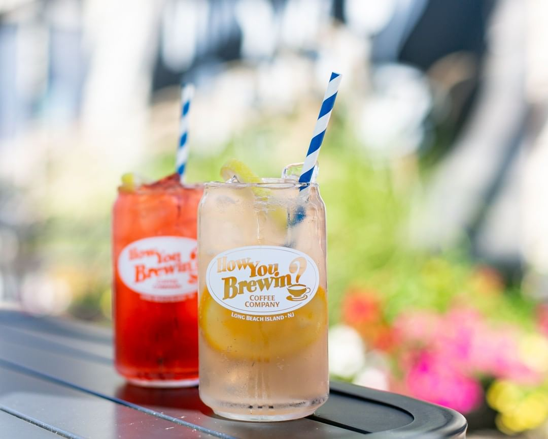 LBI Our fiestagria mocktail is a tropical vacation in a cup! Muddled orange, seltzer…