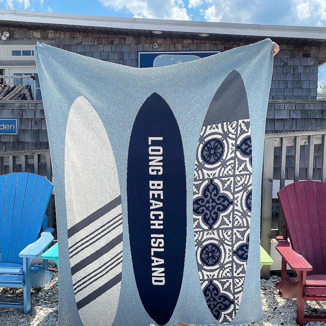 LBI Our new surfboard throw!                       …