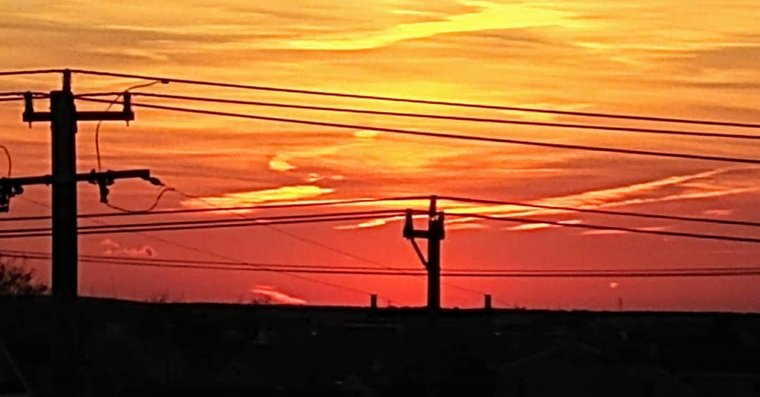 LBI Red sky at night, sailor's delight. This sky was a cornucopia of daylight embers…