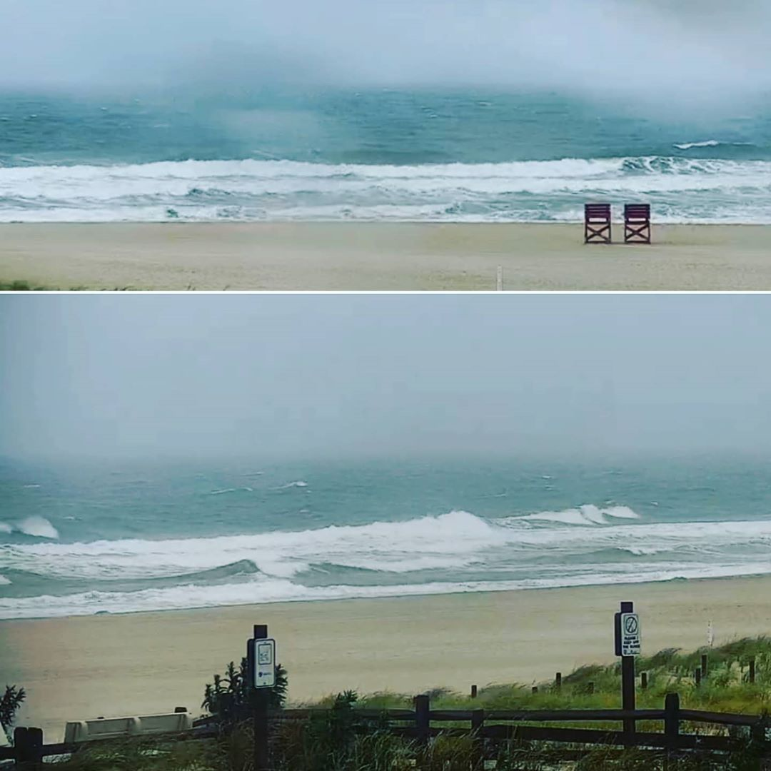 LBI SURF/BEACH REPORT  71° rain Ocean temp 73°-75° Building E swell is in the water …