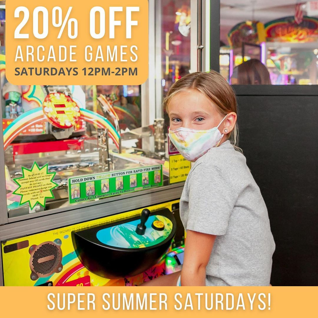 LBI The  is finally here!  Stop by the arcade from 12pm-2pm and take 20% off all arc…