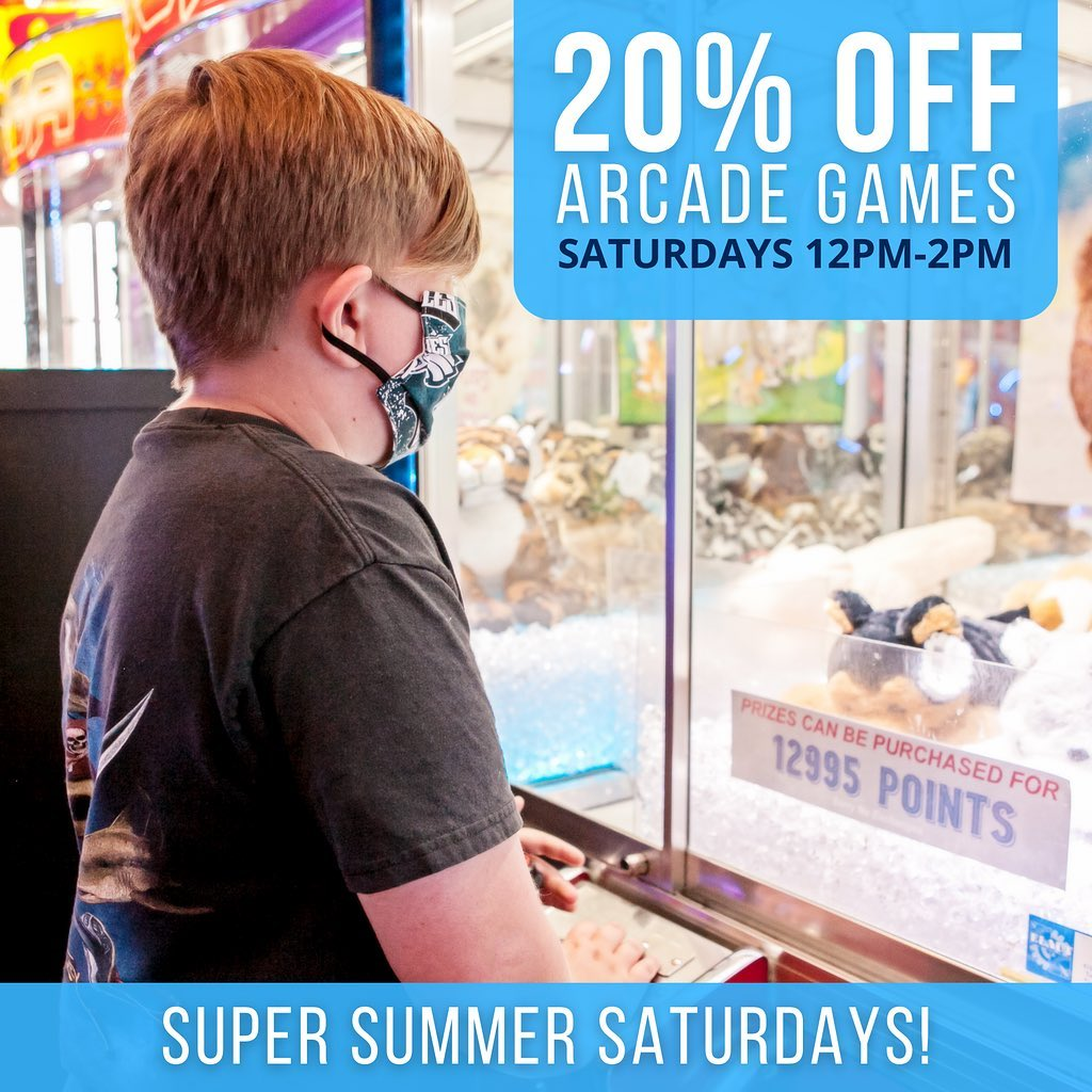 LBI There's no better way to get the  started! All arcade games are 20% off from 12p…