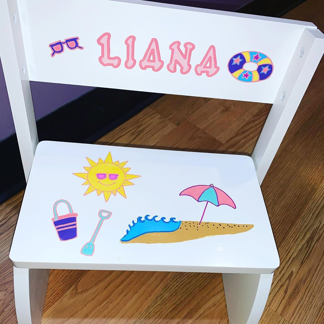 LBI Top of this little chair folds down to become a step stool. . . . . . .         …