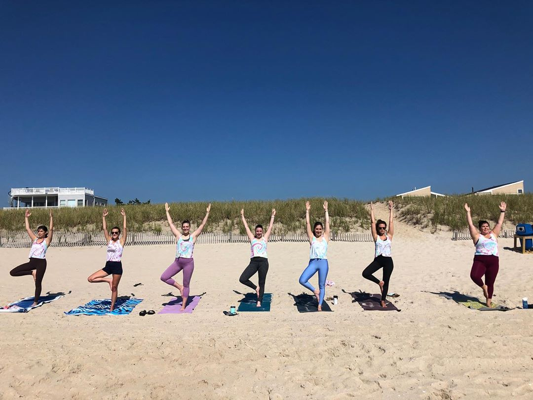 LBI We are ready for some BEACH Yoga  Salty Sunday with Bliss  8AM Harvey Cedars  10…