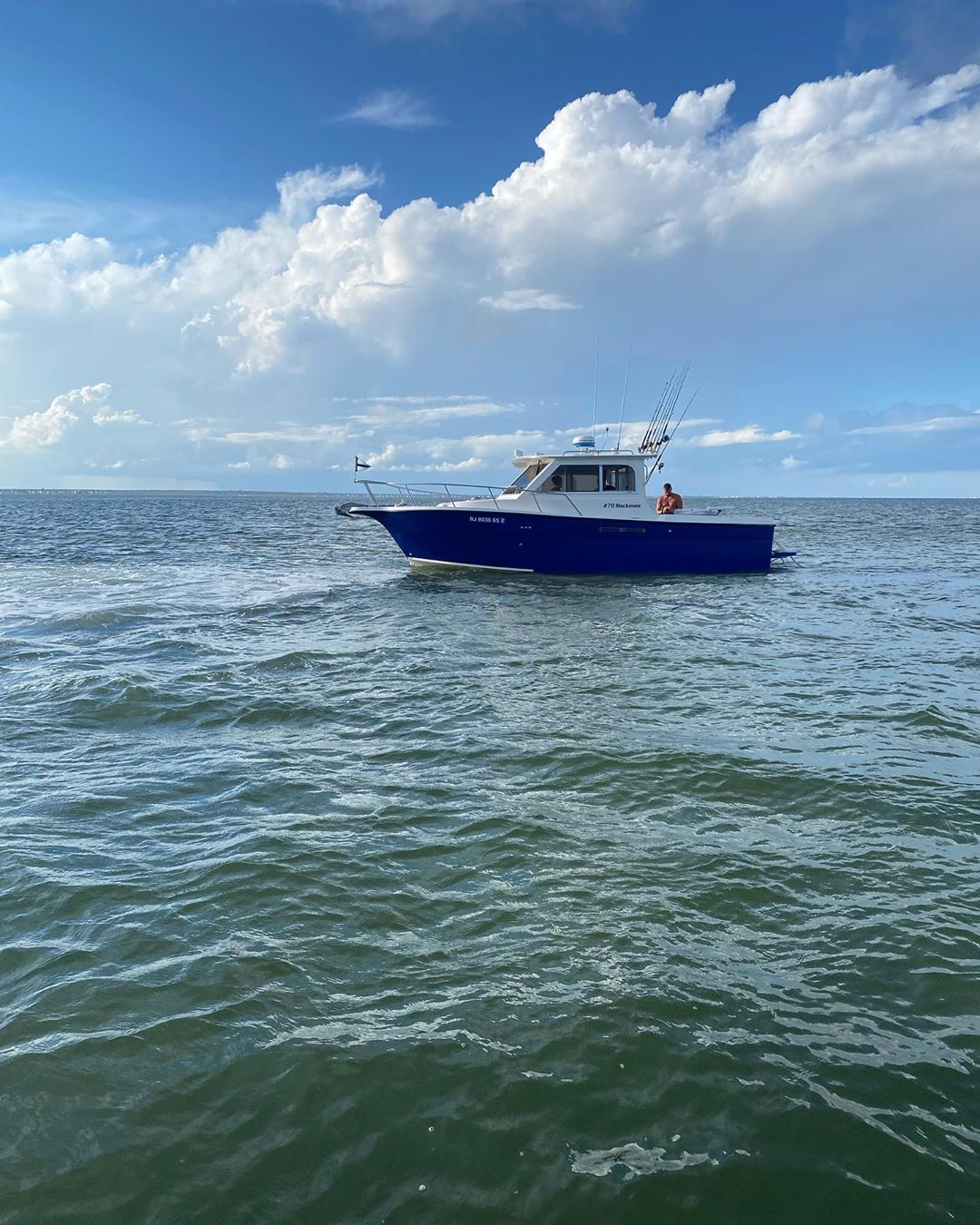 LBI Yesterday we assisted this 27' Shamrock that began taking on water when the rudd…