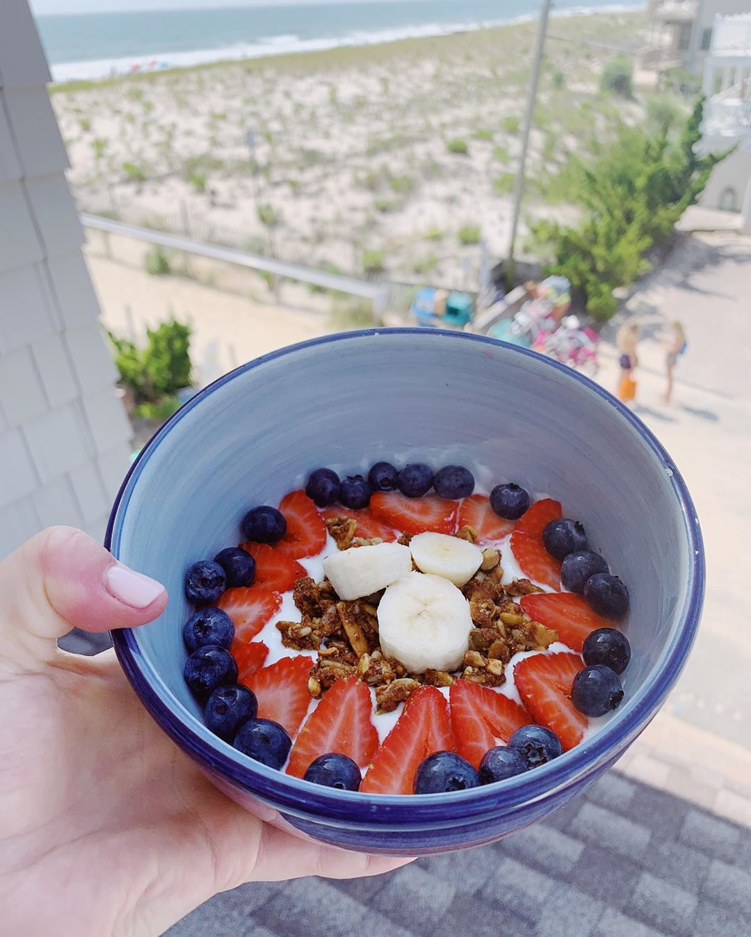 Morning yogurt bowl  My favorite yogurt to use as my base is chobani vanilla! Fo…