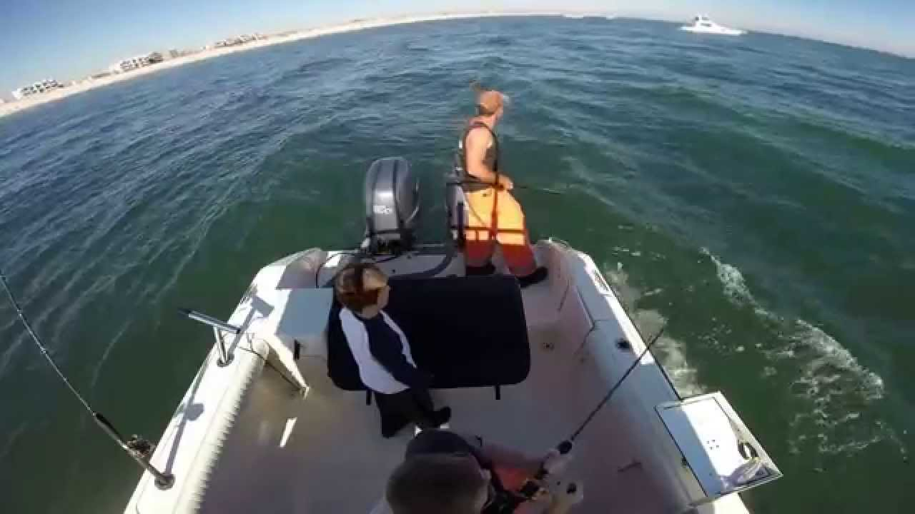 Striped Bass Fishing off LBI, Long Beach Island Cole & Cody Quelch 11/04/15
