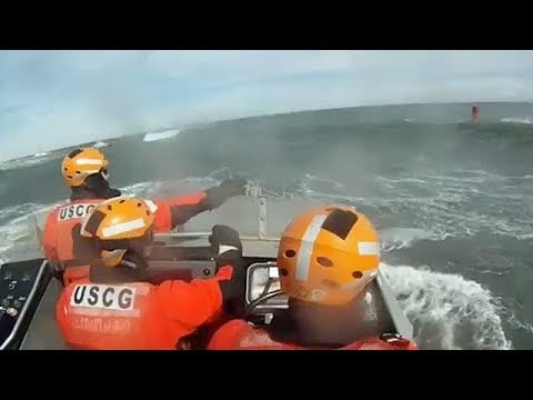 USCG Station Barnegat Light Conducts Heavy Surf Training During Nor'easter #LBI