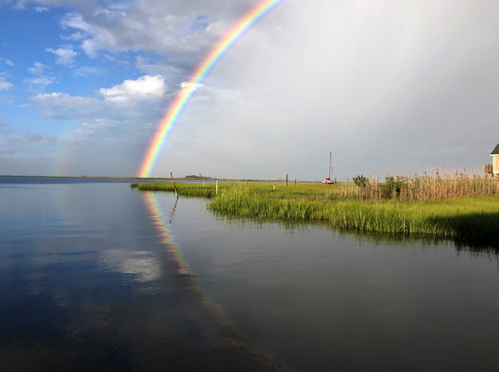 The SandPaper LBI rainbow by Jon Coen Liquid Lines