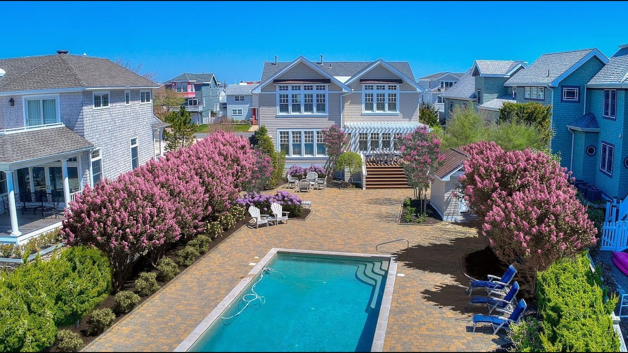 Extravagant Waterfront Home in Lazy Point, Surf City | 418 N 3rd Street | Coastal Living #LBI
