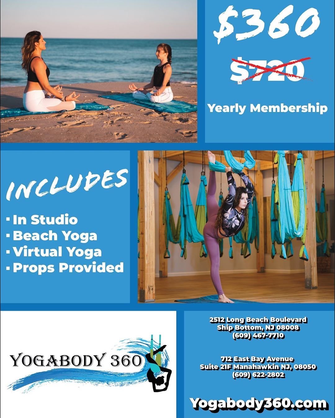 LBI • FOR A LIMITED TIME  $360 YEARLY MEMBERSHIP ($720 VALUE) LESS THAN A $1 A DAY  …
