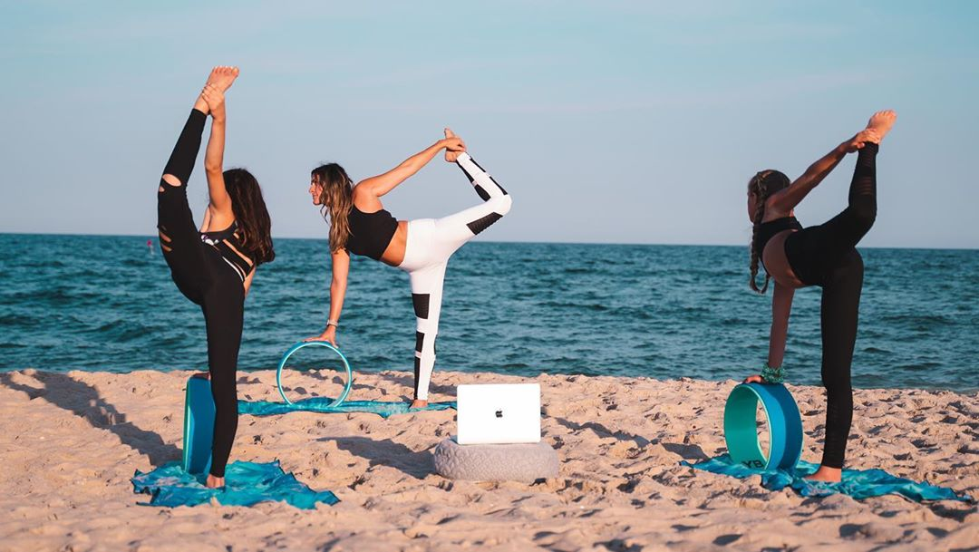 LBI • Yoga Wheel  Offered Daily In studio  Beach  Virtually   Check out our schedule…