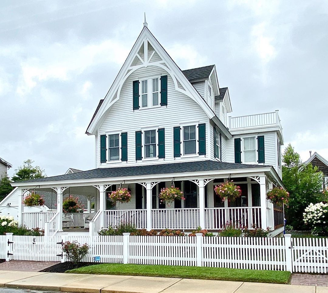 LBI A beautifully restored Gothic Revival.  Tax record year built: 1877             …