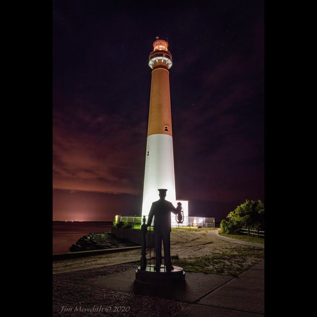 LBI A bronze monument to lighthouse keepers stands vigil just to the west of Barnega…