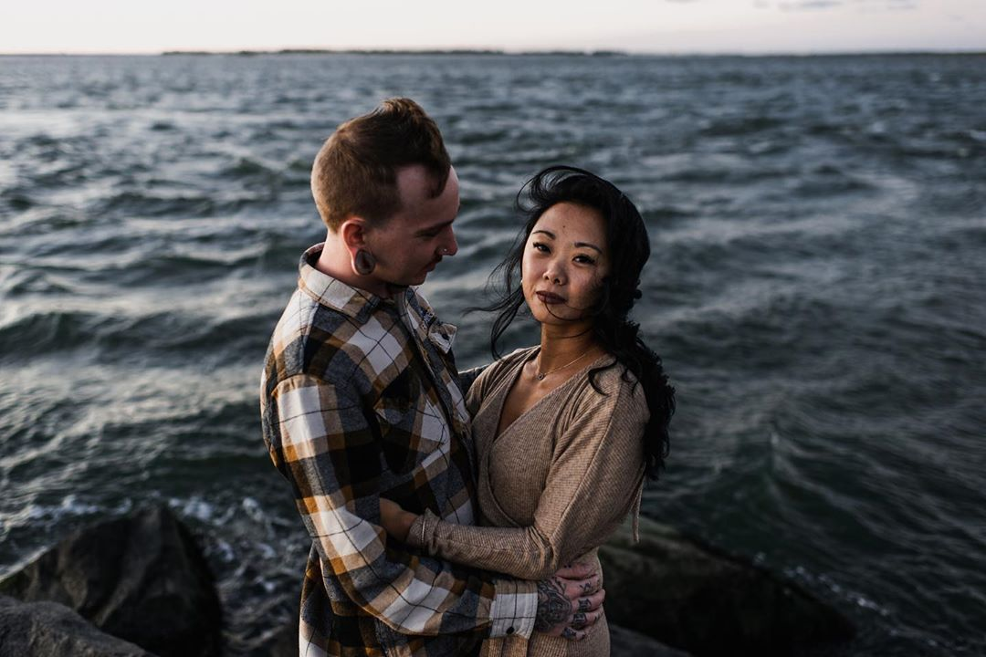 LBI   A perfect sunset and an even more perfect couple. The wind was so crazy at the…