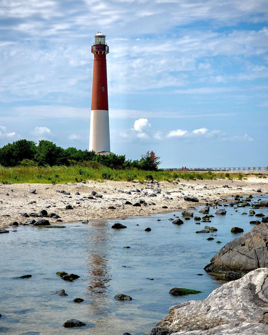 LBI A view of the Barnegat Lighthouse from the jetty.             …