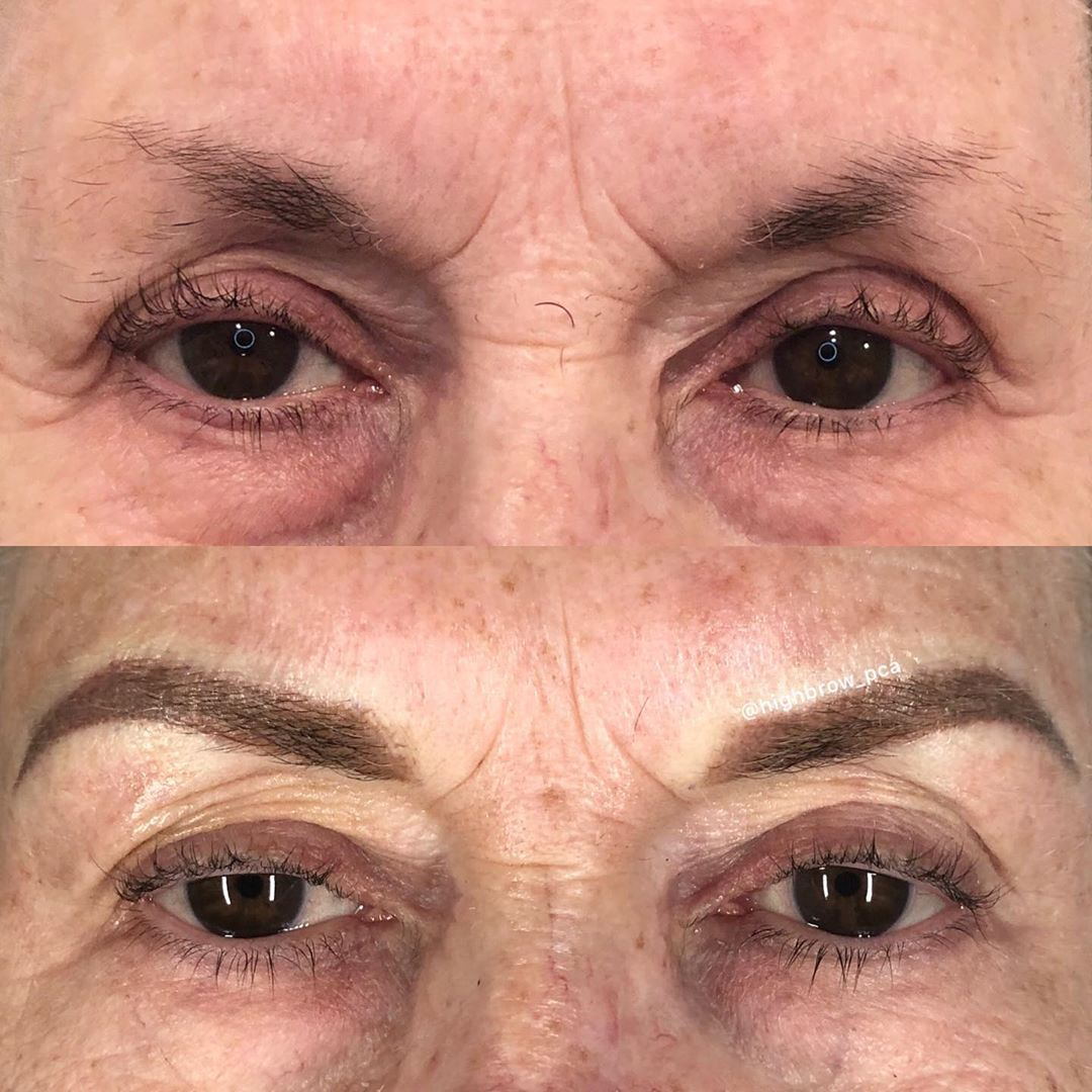 LBI Beautiful, face-framing brows at any age!! Pretty  for this mature, 76 year youn…