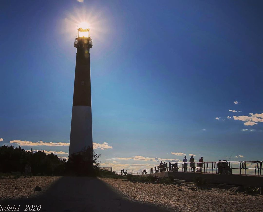 LBI Blue skies and bright sun illuminating Old Barney.                 …